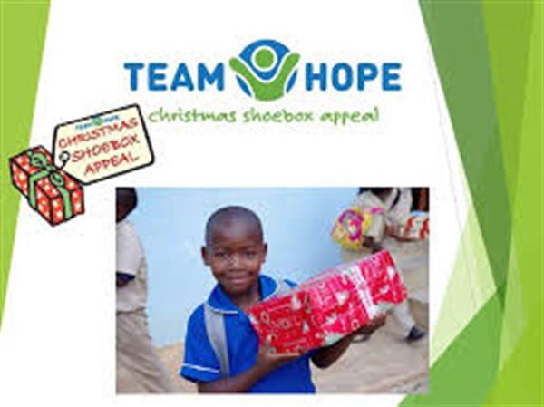 TEAM HOPE CHRISTMAS SHOE BOX APPEAL