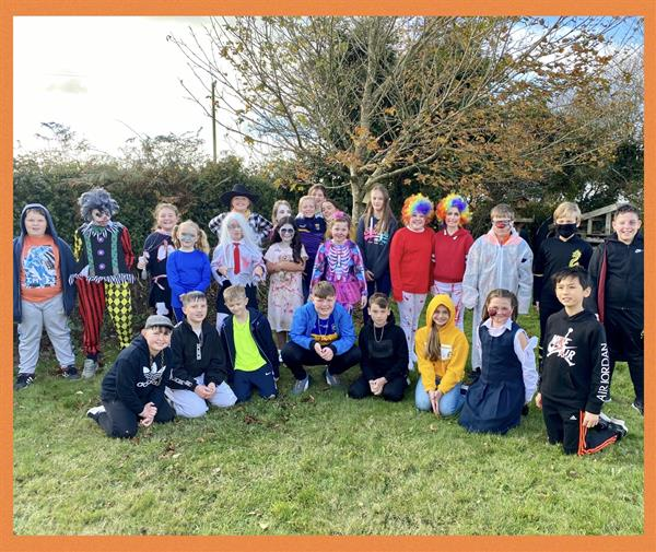 Happy Halloween from Ms. O'Grady's 4th and 5th Class