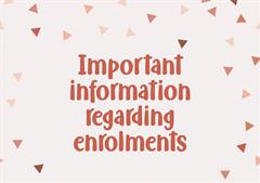 Secondary School enrolment information